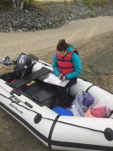 Échantillonnage en lac septembre 2020